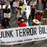 Philippine protesters rally over controversial anti-terror bill