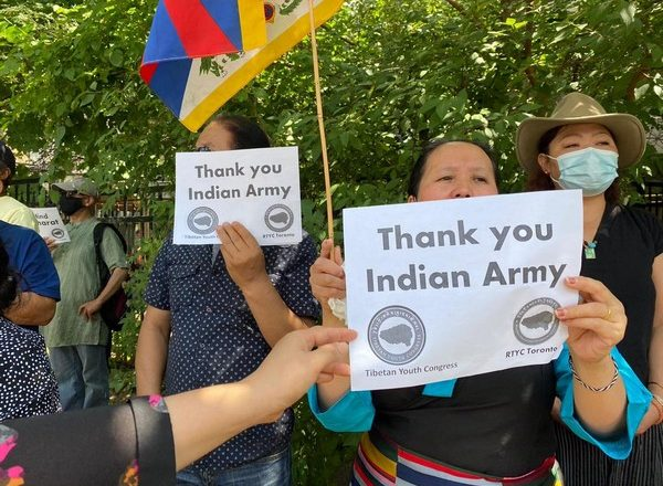 Tibetan Youth Congress holds anti-China protest outside Chinese Consulate in Toronto