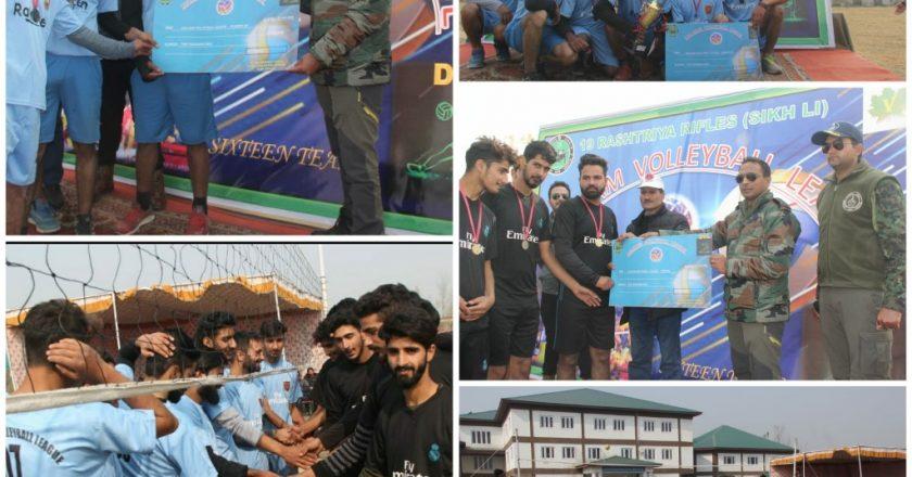 J&K: Volleyball Championship League by 19 Rashtriya Rifles concludes
