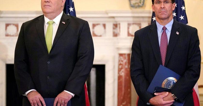Pompeo, Esper to push Trump's anti-China message in India