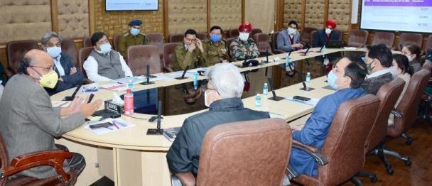 J&K CS chairs maiden meet of UT Steering Committee on covid-19 vaccination