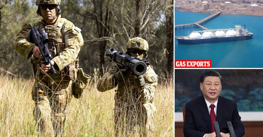 China threatens Australia over its big defence budget.