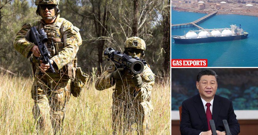 China threatens Australia over its big defence budget.