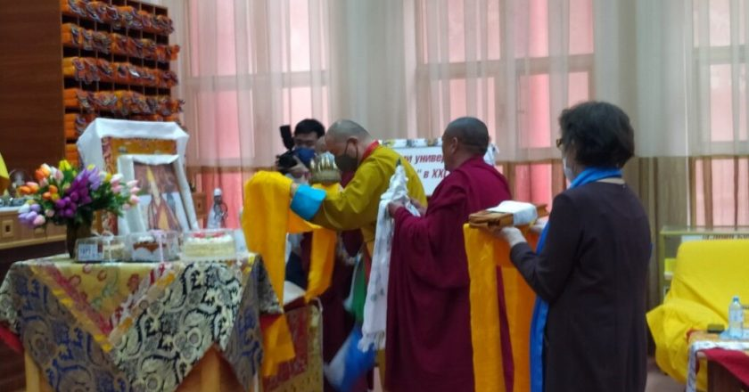 Celebration of Panchen lama's birthday could be seen across Russia