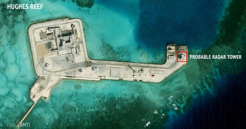 China's found in far waters from mainland.