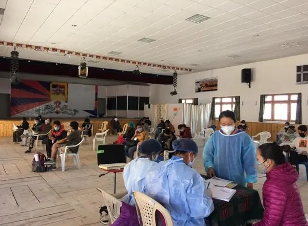 1st dose of COVID-19 vaccination given to 799 Tibetan people in Ladakh, Jangthang