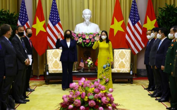 US VP Harris in Hanoi as Afghan debacle rumbles