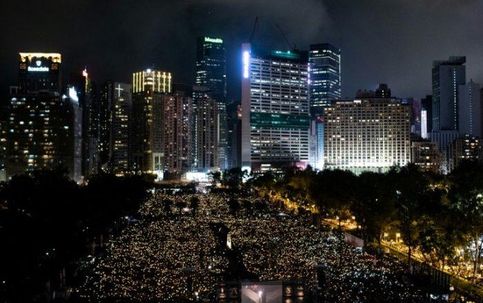 Hong Kong police arrest Tiananmen vigil organisers