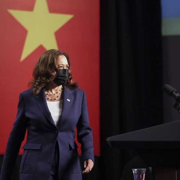 Harris says she urged Vietnam to free political dissidents